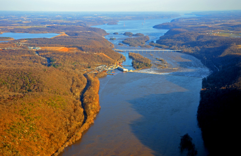 aerial view of susquehanna river private pilot certification
