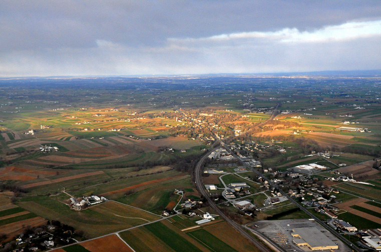 Lancaster Top Flight School Pilot Instruction Flying School Aerial View